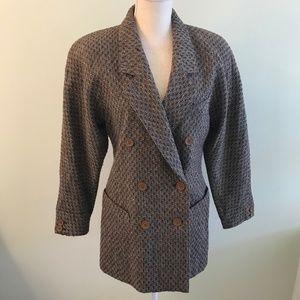 Escada alpaca/ wool brown jacket